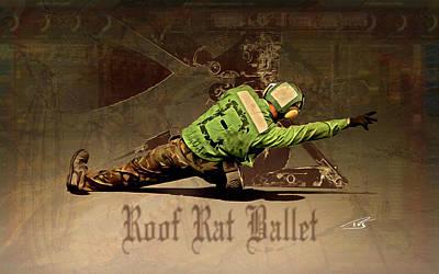 Roof Rat Ballet Art Print