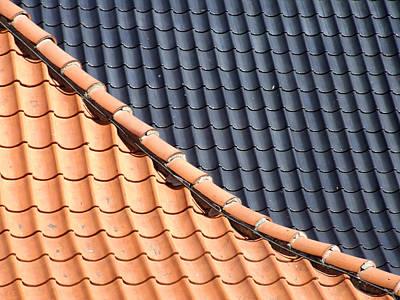 Photograph - Roof Tiles by Helen Northcott