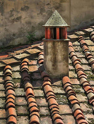 Photograph - Roof Tiles In Florence Italy by Dave Mills