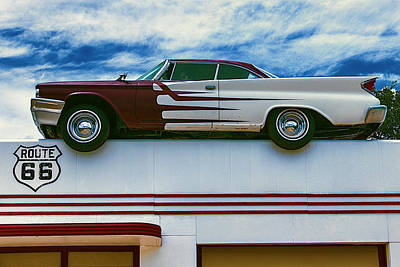 Photograph - Roof Top Car by Garry Gay
