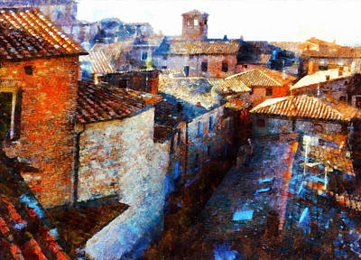 Photograph - Roof Tops Citta Della Pieve by Dorothy Berry-Lound