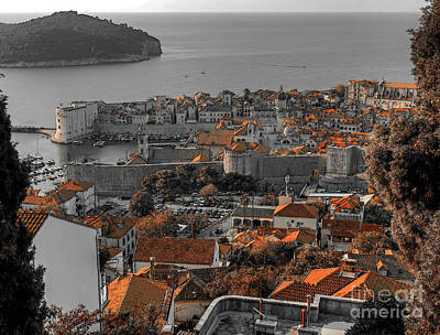 Photograph - Roof Tops Of Dubrovnik by Lance Sheridan-Peel