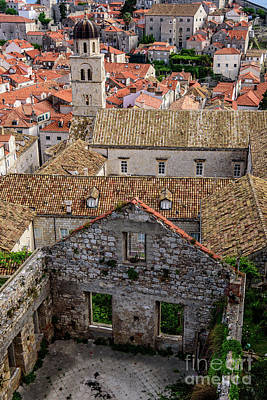 Photograph - Roofs And Buildings From The City Walls, Dubrovnik, Croatia by Global Light Photography - Nicole Leffer