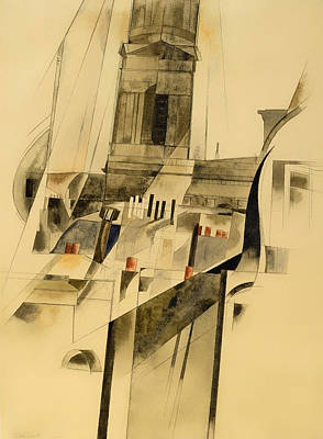 Prayer Drawing - Roofs And Steeple by Mountain Dreams
