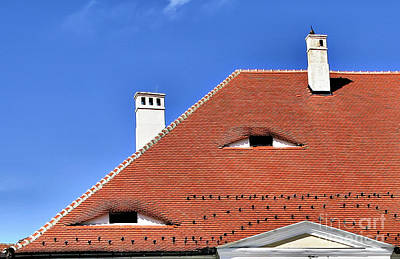 Colorful People Abstract Royalty Free Images - Roofs Eyes of Transylvania Royalty-Free Image by Daliana Pacuraru