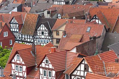 Roofs Of Bad Sooden-allendorf Art Print by Heiko Koehrer-Wagner