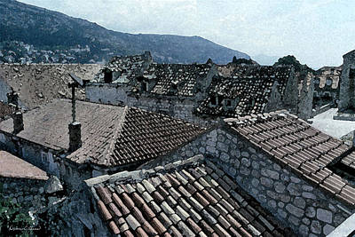 Digital Art - Roofs Of Dubrovnik by Donna Corless