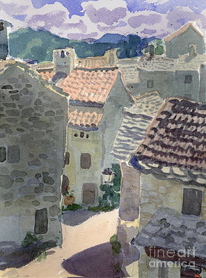 Painting - Roofs Of La Couvertoirade by Vladimir Kozma