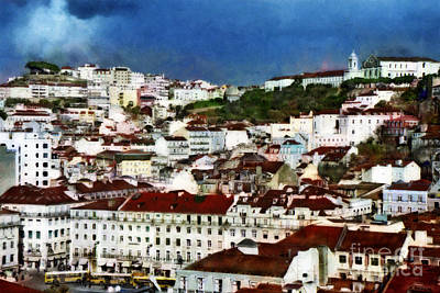 Art Print featuring the photograph Roofs Of Lisbon by Dariusz Gudowicz