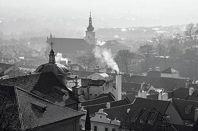 Photograph - Roofs Of Mala Strana In Winter. Prague by Jenny Rainbow