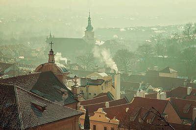 Photograph - Roofs Of Mala Strana. Vintage. Prague by Jenny Rainbow