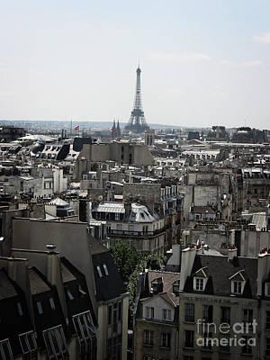 Seeing Photograph - Roofs Of Paris. France by Bernard Jaubert