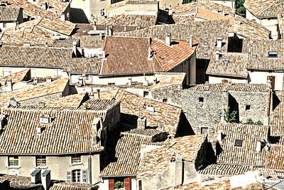 Roofs Of Provence Original by Kim Lessel