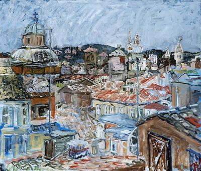 Roofs Of Rome Art Print by Joan De Bot