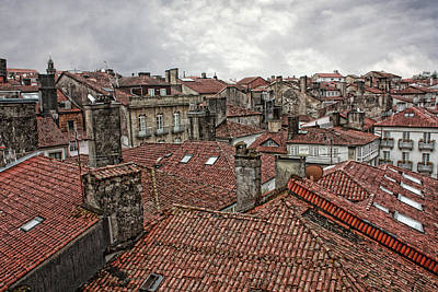 Photograph - Roofs Over Santiago by Angel Jesus De la Fuente
