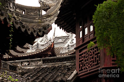 Shanghai China Photograph - Roofscape by Rene Fuller