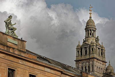 Photograph - Rooftop Architecture Glasgow Scotland by Alex Saunders