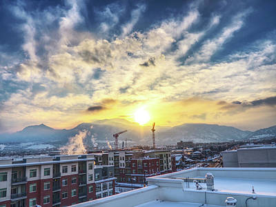 Rooftop In Boulder, Co Art Print by David Goudy
