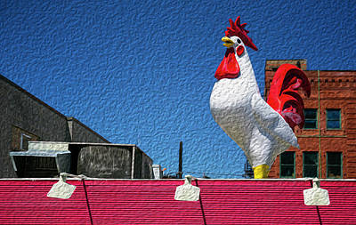 Photograph - Rooftop Rooster by Art Cole