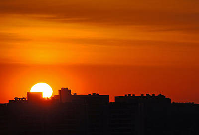 Photograph - Rooftop Sunrise by Keith Armstrong