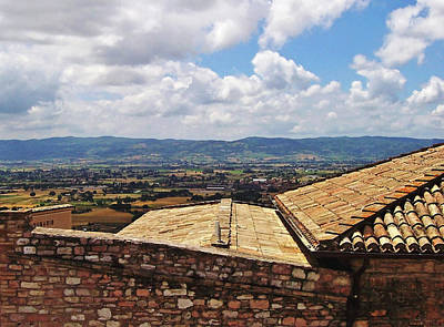 Photograph - Rooftop View Countryside Assisi Italy by Debbie Oppermann