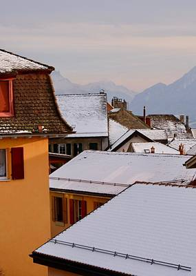 Photograph - Rooftops After First Snowfall by Colleen Williams