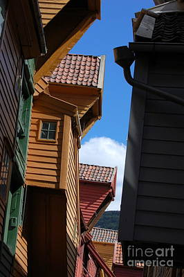 Photograph - Rooftops And Sky by Linda Prewer