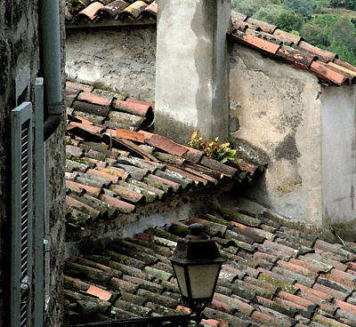 Rooftops Corsica Art Print by John Bradburn