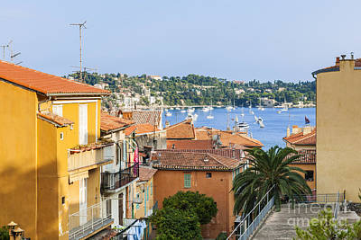 Yacht Photograph - Rooftops In Villefranche-sur-mer by Elena Elisseeva
