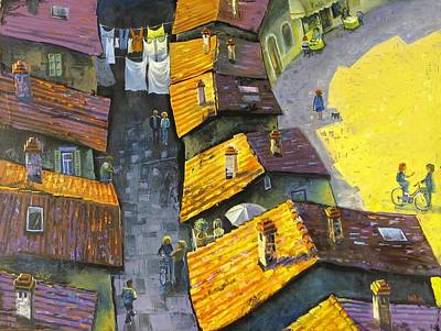 Painting - Rooftops by Mikhail Zarovny