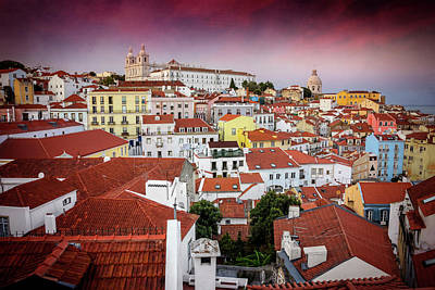 Rooftops Of Alfama Lisbon  Art Print