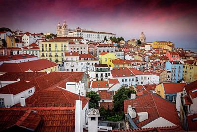 Modern Kitchen - Rooftops of Alfama Lisbon  by Carol Japp