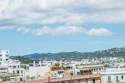 Photograph - Rooftops Of Ibiza 1 by Steve Purnell
