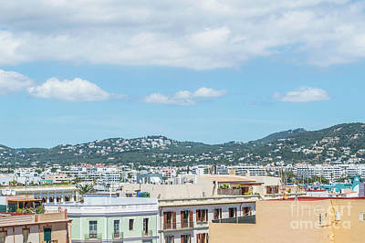 Photograph - Rooftops Of Ibiza 2 by Steve Purnell