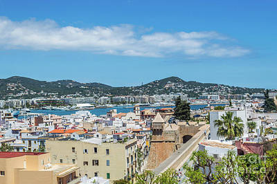 Photograph - Rooftops Of Ibiza 3 by Steve Purnell