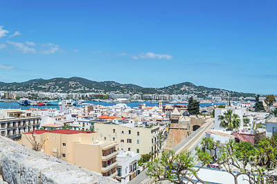 Photograph - Rooftops Of Ibiza 4 by Steve Purnell