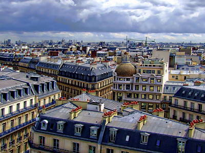 Photograph - Rooftops Of Paris by Anthony Dezenzio