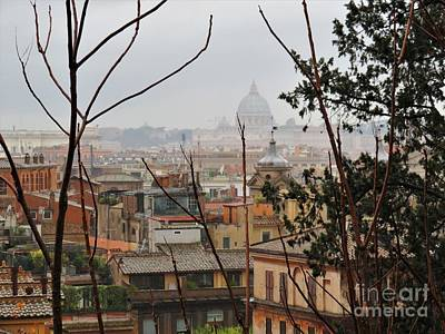 Photograph - Rooftops Of Rome by Laurie Morgan
