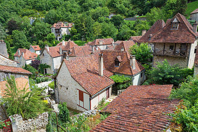 Photograph - Rooftops Of Saint Circ Lapopie In France by Semmick Photo