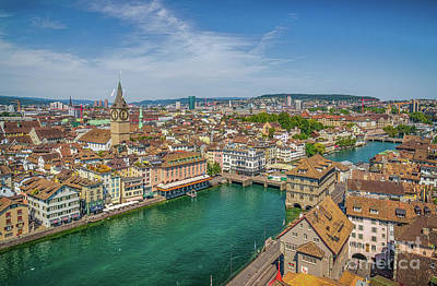 Photograph - Rooftops Of Zurich by JR Photography