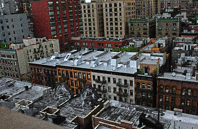 Digital Art - Rooftops On The Upper West Side by William Sargent