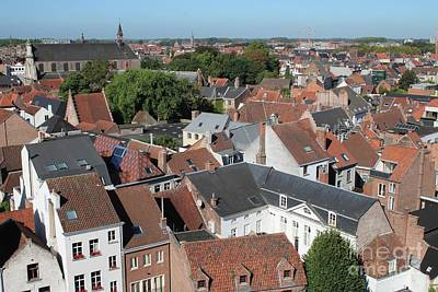 Photograph - Rooftops Over Ghent by Carol Groenen