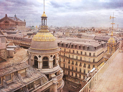 Photograph - Rooftops Over Paris by Heidi Hermes