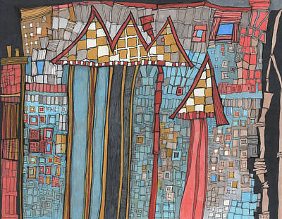 Drawing - Dilapidated World by Sandra Church