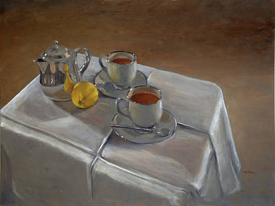 Teapot Painting - Rooibos For Two by Christopher Reid