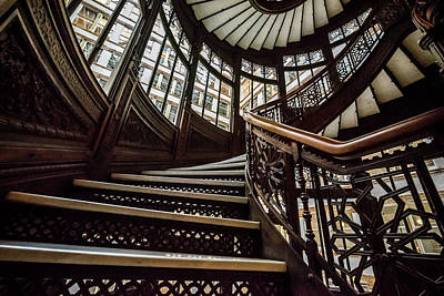 Photograph - Rookery Building Stairs by Anthony Doudt
