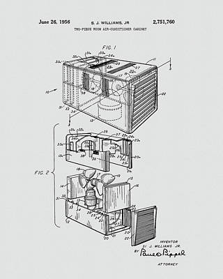 Drawing - Room Air Conditioner Patent by Dan Sproul