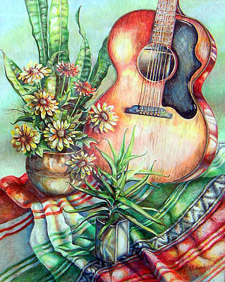 Drawing - Room For Guitar by Linda Shackelford