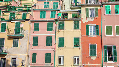 Photograph - Room With A View Cinque Terre Italy  by John McGraw