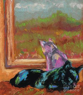 Absract Painting - Room With A View by Frances Marino